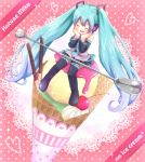 character_name cherry closed_eyes detached_sleeves eyes_closed food fruit hands_on_own_face hatsune_miku headphones ice_cream ice_cream_cone in_food long_hair minigirl necktie sitting skirt sparkle spoon thigh-highs thighhighs twintails very_long_hair vocaloid rating:Safe score:0 user:danbooru