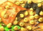 bag bird candy chicken controller crumbs food footprints game_controller gamepad no_humans original paint paintbrush yoshiyanmisoko rating:Safe score:2 user:danbooru