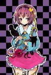 eyes hairband heart kaenbyou_rin kaenbyou_rin_(cat) komeiji_satori purple_eyes purple_hair reiuji_utsuho reiuji_utsuho_(bird) short_hair sottan touhou violet_eyes