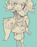 agitha carrying gloves hat link monochrome nintendo penta5 pointy_ears spot_color the_legend_of_zelda twilight_princess twintails
