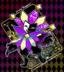 argyle card dimentio jester joker naco24 paper_mario playing_card solo super_paper_mario