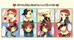 6+boys gold_(pokemon) kouki_(pokemon) kyouhei_(pokemon) male male_protagonist_(pokemon_xy) multiple_boys pink_usagi pokemon pokemon_(game) pokemon_bw pokemon_dppt pokemon_gsc pokemon_hgss pokemon_rgby pokemon_rse red_(pokemon) red_(pokemon)_(classic) red_(pokemon)_(remake) touya_(pokemon) yuuki_(pokemon)