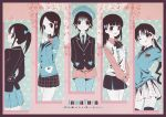 5girls :d ;q alternate_costume aqua blazer bow column_lineup dress_shirt hair_bow hair_ribbon hanawa_kaoru hands_together heart long_hair miyoshi_chihiro multiple_girls necktie official_art okazaki_norie open_mouth pantyhose pinstripe_pattern plaid plaid_skirt ponytail ribbon sakurada_maon sawatari_fuu shirt short_hair skirt smile sweater sweater_vest tamayura thigh-highs title_drop tongue twintails v_over_eye vertical-striped_legwear vertical_stripes wink