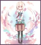 1girl ahoge black_legwear highres konpaku_youmu konpaku_youmu_(ghost) pantyhose pino_(straight) red_eyes solo tote_bag touhou white_hair