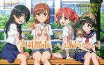 4girls absurdres highres misaka_mikoto multiple_girls official_art saten_ruiko scan shirai_kuroko tagme to_aru_kagaku_no_railgun to_aru_majutsu_no_index uiharu_kazari