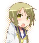 >:o 1girl blonde_hair bust ichii_yui long_hair miiyon open_mouth school_uniform serafuku solo twintails yellow_eyes yuyushiki
