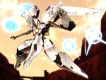 bridge canyon clouds fumizuki_homura mecha no_humans orbital_frame solo vic_viper_(z.o.e) zone_of_the_enders zone_of_the_enders_2