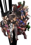 animal bear boots chinese_clothes claws crazy demon devil_jin dragunov emilie_de_rochefort facial_hair feng_wei grin horns jaycee julia_chang junny kazama_asuka kazama_jin kazama_jun kuma_(tekken) lars_alexandersson lei_wulong lips long_hair manly mask master_cup_5 milf mishima_heihachi mishima_kazuya multiple_boys multiple_girls muscle mustache namco old_man rivalry scarf short_hair smile spiky_hair tekken tekken_tag_tournament_2 wrestling_outfit
