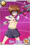 glasses luciferion lyrical_nanoha mahou_shoujo_lyrical_nanoha mahou_shoujo_lyrical_nanoha_innocent material-s school_uniform stern_starks