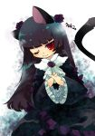 1girl :3 animal_ears black_hair cat_ears cat_tail dress gokou_ruri gothic_lolita hands_clasped inumimi-syndrome long_hair ore_no_imouto_ga_konna_ni_kawaii_wake_ga_nai red_eyes tail wink