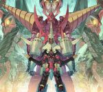 arc_gurren-lagann chouginga_gurren-lagann gurren-lagann mecha no_humans official_art tengen_toppa_gurren-lagann_(mecha) tengen_toppa_gurren_lagann yoshinari_you