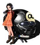 car dress hayahoshi headphones jacket motor_vehicle vehicle