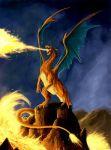 charizard dragon epic fire lava no_humans pokemon pokemon_(creature) realistic