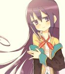 cardigan gj-bu long_hair off_shoulder purple_hair school_uniform solo sumeragi_shion symbol-shaped_pupils tank_(artist) violet_eyes