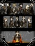 annie_leonhardt armin_arelet belt bertholt_fubar black_hair blonde_hair brown_hair chain christa_renz conny_springer engrish eren_jaeger fire freckles highres jacket jean_kirchstein long_hair marco_bodt mikasa_ackerman ranguage reiner_braun sasha_browse shingeki_no_kyojin short_hair sumaoskirt tears uniform ymir_(shingeki_no_kyojin)