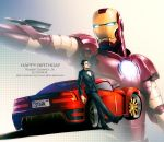 armor car english ferrari iron_man ironman marvel mecha motor_vehicle power_armor realistic rokuro_(ryvius) science_fiction tony_stark tuxedo vehicle