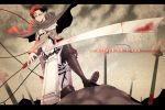 1boy ascot black_hair cape cherish-228 dual_wielding field_of_blades jacket jojo_no_kimyou_na_bouken rivaille shingeki_no_kyojin solo sword title_drop weapon wire