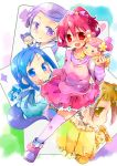 6+girls :3 ai-chan_(dokidoki!_precure) aida_mana baby blue_eyes blue_hair brown_eyes brown_hair dabyi_(dokidoki!_precure) db_(dokidoki!_precure) dokidoki!_precure dress flipped_hair frown half_updo hishikawa_rikka kenzaki_makoto lance_(dokidoki!_precure) makiemon multiple_girls pink_dress pink_hair precure purple_hair raquel_(dokidoki!_precure) red_eyes shirt shoes short_hair skirt smile striped striped_shirt thigh-highs violet_eyes white_legwear yotsuba_alice