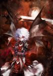 1boy 1girl banpai_akira dante devil_may_cry devil_may_cry_3 remilia_scarlet touhou white_hair wings