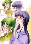 2girls aoki_reika blush chibi green_eyes green_hair long_hair midorikawa_nao multiple_girls precure smile smile_precure! tima