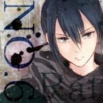 1boy blue_hair character_name copyright_name leopon male nezumi_(no.6) no.6 parted_lips scarf solo