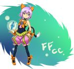 blue_eyes cat_tail crystal ff_gradient final_fantasy final_fantasy_crystal_chronicles highres pantyhose pink_hair sherlotta tail