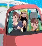 crossover dio_brando driving gake_no_ue_no_ponyo ghibli jojo_no_kimyou_na_bouken masao motor_vehicle ocean risa risa_(ponyo) sosuke vehicle