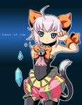 blue_eyes cat_tail crystal final_fantasy final_fantasy_crystal_chronicles kurono pink_hair sherlotta tail