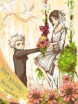 artist_request bleach formal hinamori_momo hitsugaya_toushirou suit