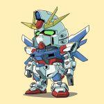 build_strike_gundam gundam gundam_build_fighters mecha no_humans sd_gundam simple_background tanaka_hidetomo