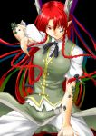 1girl braid dragon dragon_girl dragon_horns ex-meiling fighting_stance highres hong_meiling hong_meiling_(dragon) monster_girl niwatazumi pointy_ears red_eyes redhead scales sketch solo touhou transformation twin_braids