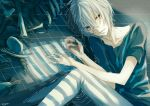 1boy 6w6y accelerator red_eyes short_hair solo to_aru_kagaku_no_railgun to_aru_majutsu_no_index white_hair