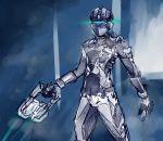 1boy armor dead_space eu03 glowing gun helmet isaac_clarke plasma_cutter power_suit science_fiction solo spacesuit visor weapon