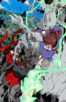 1girl akko_kagari battle highres jc little_witch_academia monster tagme