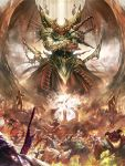armor corpse dcwj fighting fire giant highres horn legend_of_the_cryptids monster sword weapon wings