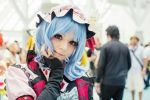 blue_hair cosplay m_i_l_k red_eyes remilia_scarlet remilia_scarlet_(cosplay) touhou