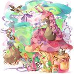 bird caterpillar coco7 jar letter mushroom no_humans pokemon pokemon_(creature) scolipede snivy starly venipede