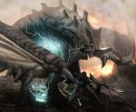 electricity epic gravios monster monster_hunter realistic scenery vanipo wyvern