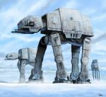 army at-at cannon clouds door energy_gun fleet galactic_empire gyan_(akenosuisei) hoth mecha mountain parody realistic science_fiction signature snow star_wars toy vehicle weapon