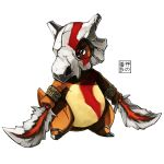 blade bodypaint bone chain cubone dual_wielding eudetenis god_of_war no_humans pokemon pokemon_(game)