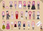 6+girls anti_the_infinite_holic_(vocaloid) colorful_x_sexy_(vocaloid) cowboy_hat earmuffs happy_synthesizer_(vocaloid) hat love_color_ward_(vocaloid) magnet_(vocaloid) matryoshka_(vocaloid) megurine_luka megurine_luki multiple_girls pink_hair senbon-zakura_(vocaloid) songover takoluka
