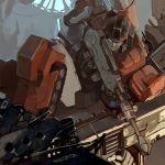 autobot building cybertron energy_gun enterlv2 gun mecha perceptor rifle robot science_fiction sniper_rifle transformers weapon