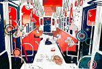 1girl clothes_hanger magatan milk_carton moose original school_uniform train train_interior