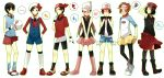 6+boys blue_(pokemon)_(cosplay) calme_(pokemon) cosplay costume_switch crossdressing gold_(pokemon) haruka_(pokemon)_(cosplay) highres hikari_(pokemon)_(cosplay) kotone_(pokemon)_(cosplay) kouki_(pokemon) kyouhei_(pokemon) multiple_boys pokemon pokemon_(game) pokemon_bw pokemon_bw2 pokemon_dppt pokemon_gsc pokemon_hgss pokemon_rgby pokemon_rse pokemon_xy red_(pokemon) rento_(ayato) serena_(pokemon)_(cosplay) touko_(pokemon)_(cosplay) touya_(pokemon) yuuki_(pokemon)