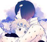 blue blue_hair braid brown_eyes bruno_bucciarati giorno_giovanna hug jojo_no_kimyou_na_bouken jojolion xxxceller