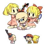 ana black_eyes black_hair blonde_hair braid crying haren hat lucas mirror mother_(game) mother_2 mother_3 ness nintendo paula_polestar poo ribbon smile