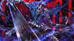 armor artorias_the_abysswalker cape chikashige dark_souls foreshortening full_armor helmet knight solo sword weapon