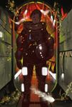 brown_eyes brown_hair glowing helmet lights shiira smile spacesuit