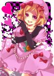 blonde_hair dress hair_ribbon hat heart hoe_satsuki jewelry lambdadelta necklace pumpkin red_eyes ribbon satsuki_(artist) umineko_no_naku_koro_ni