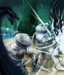 armor dark_souls full_armor gauntlets helmet knight monster shield sieglinde_of_catarina siegmeyer_of_catarina sword weapon